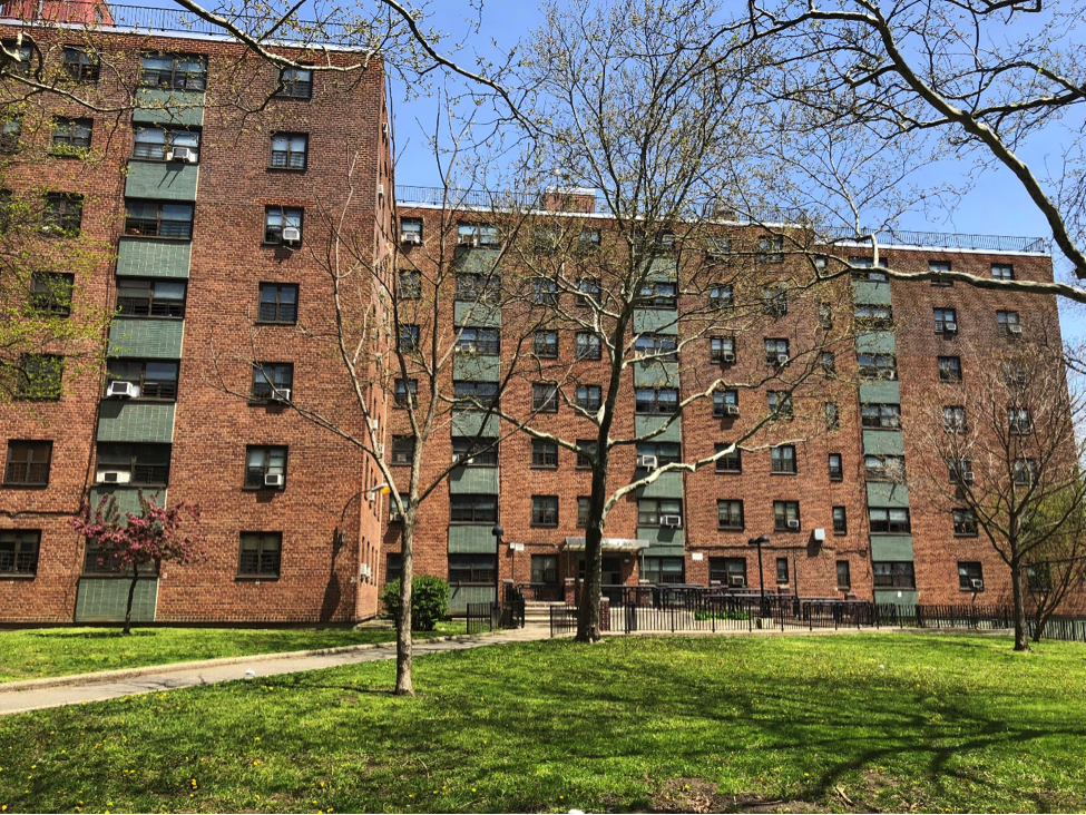 Housing apartments on Rosedale Ave. in Bronx, New York. Photo by Andrea Nieves.