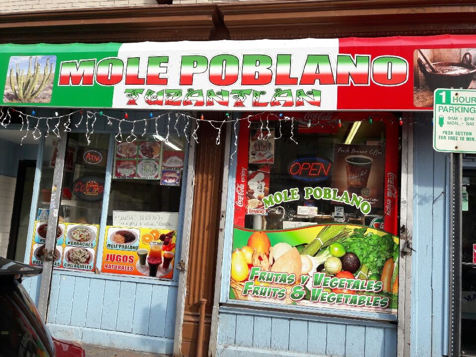 Exterior of Mole Poblano, open for business, located at 290 New Main St., Yonkers, New York. Photos by Juan B. Garcia.