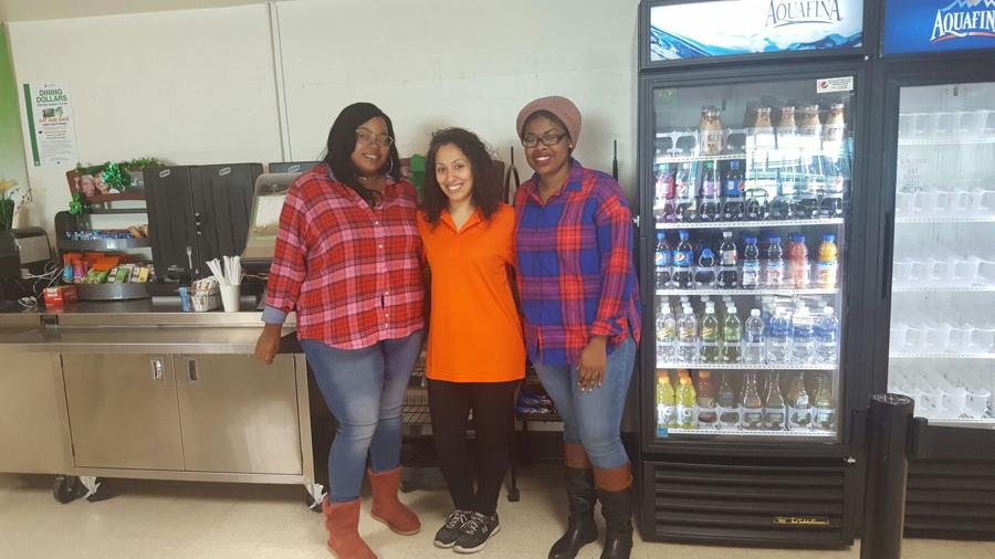 Carman Hall Café, where friends are made. Jerlisa Ware, Daisy DeJesus, Courtne Comrie. Photo by Keidy Gomez.
