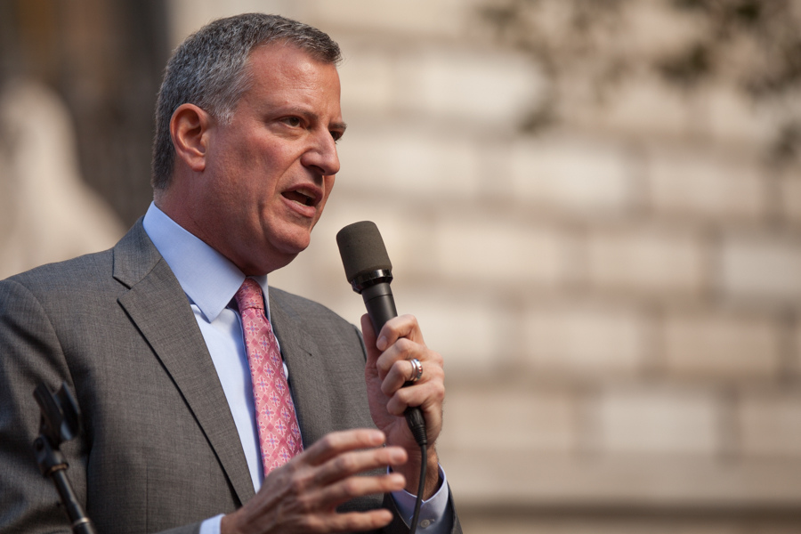 Mayor Bill de Blasio pictured in 2013. Photo courtesy of Flickr.
