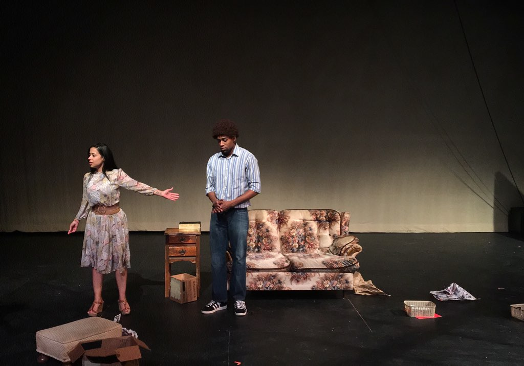 """Giselley Munoz as Mabel and Steven Prescod as Bobby in James Egbuta-Bailey's """"Miracle in the Garden."""" Photos by James Egbuta-Bailey."""