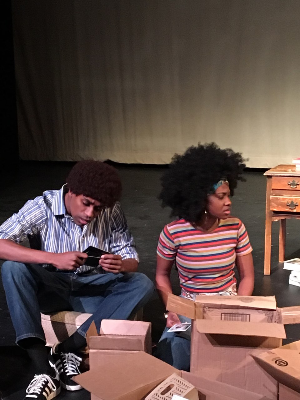 """Steven Prescod as Bobby and Essence Walker as Shelley in James Egbuta-Bailey's """"Miracle in the Garden."""""""
