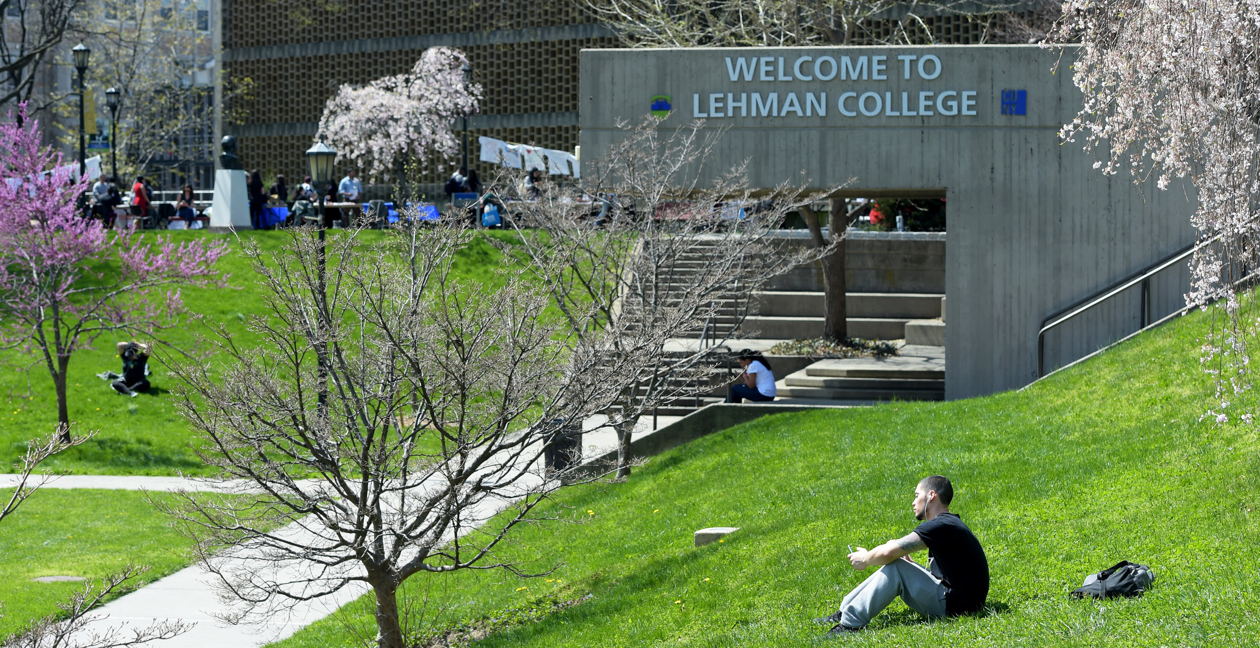 Lehman campus in the spring. Photo courtesy of CUNY.