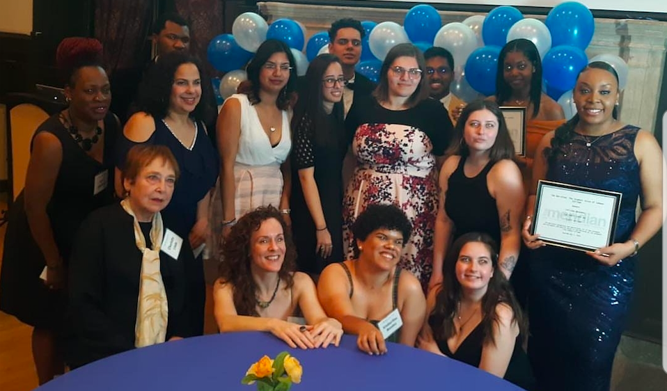 Our Spring 2019 staff at the 55th anniversary gala of the Meridian held on May 2nd, 2019. Staff members from early years attended the event and recognitions were given to those who graduated that month.