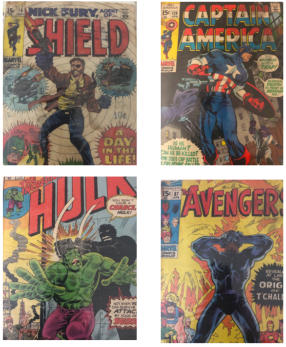 Comic books produced by Stan Lee  (Photo Credit: Lysa Vanible).