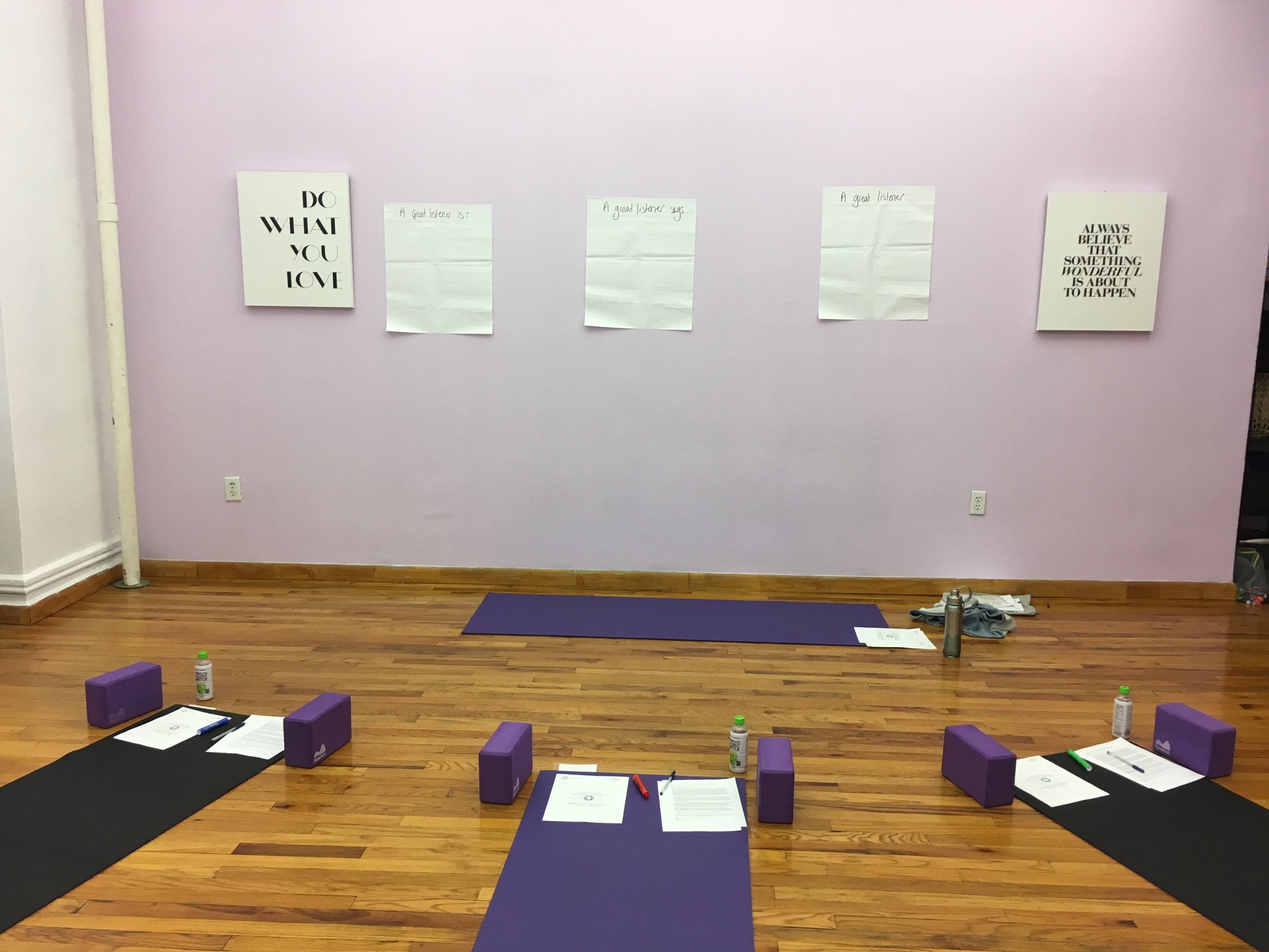 Lead Yourself With Awareness with Dominique Mas. Yoga Collective Studio.