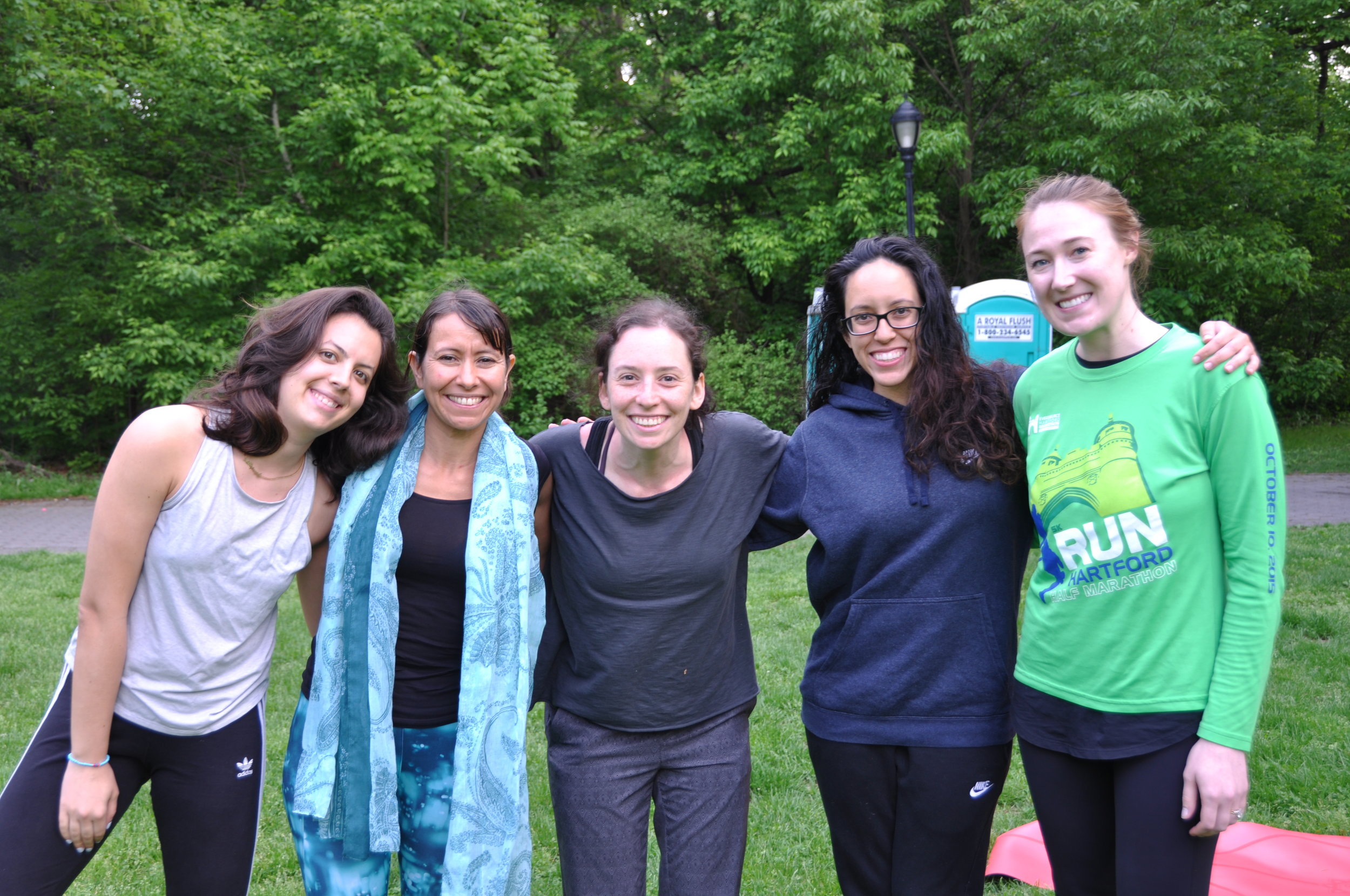 Small group coaching session with Dominique Mas in Prospect Park