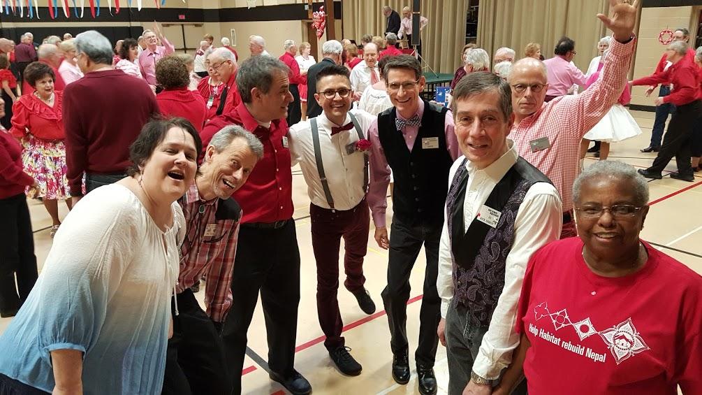 Kim, Bud, Michael, Paul, David, Jeff, Rick and Beejay at MCASD's Feb 21, 2016 Sweetheart Dance
