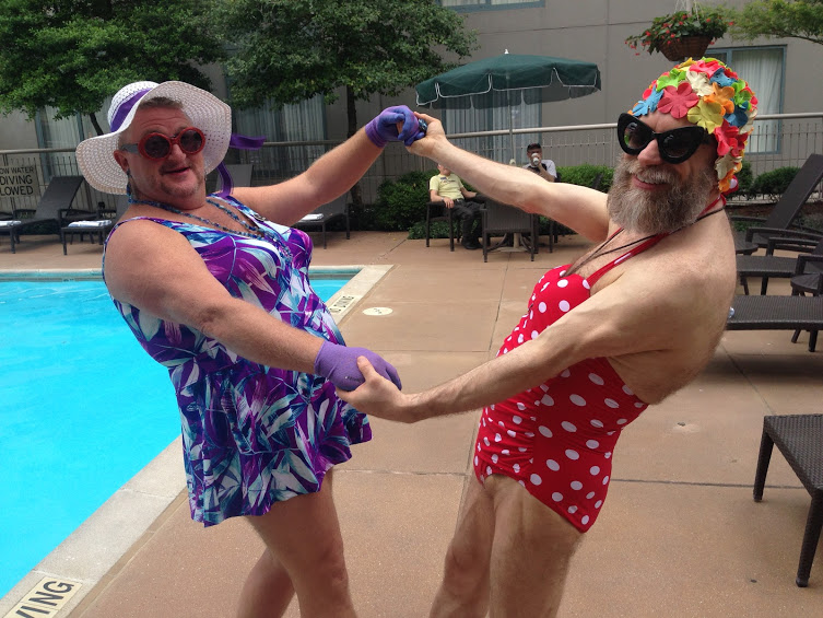 Bathing Beauties make a rare, brief appearance at the St. Louis Convention, May 26, 2015