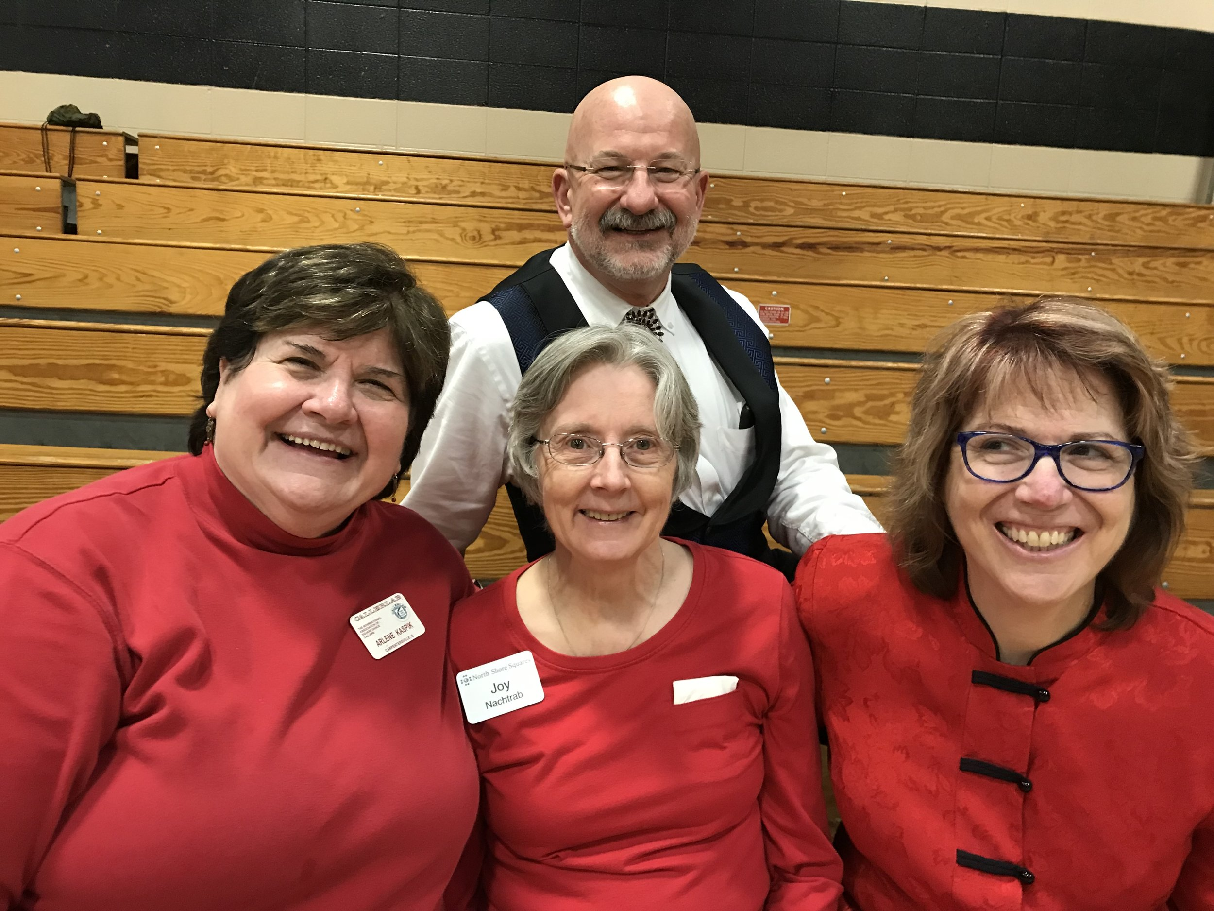 Arlene, Joy, Kate and Rob at MCASD's 57th Annual Sweetheart Dance, 2/19/2017, at Trinity Lutheran Church in Roselle