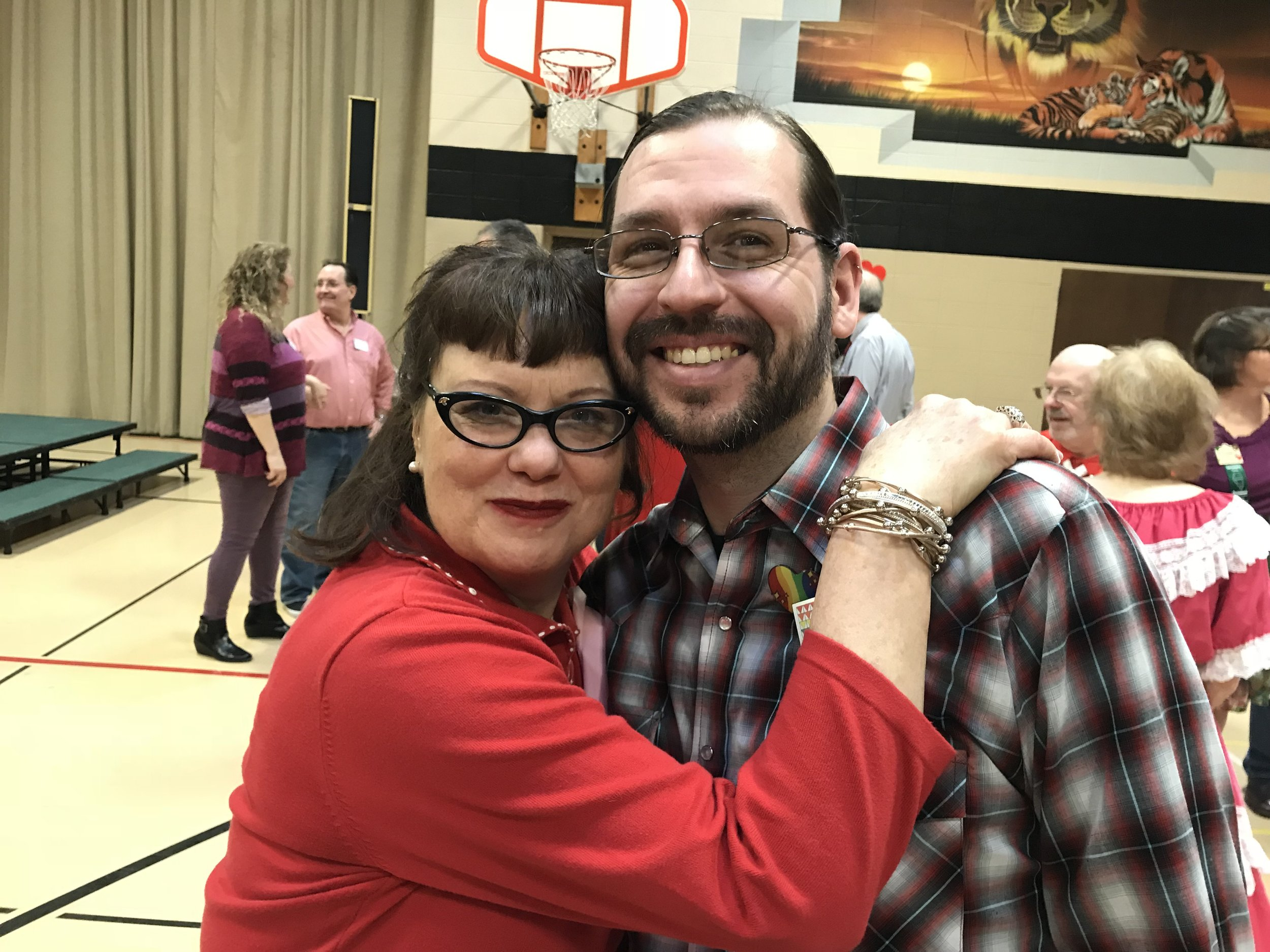 Diva and Moose at MCASD's 57th Annual Sweetheart Dance, 2/19/2017, at Trinity Lutheran Church in Roselle