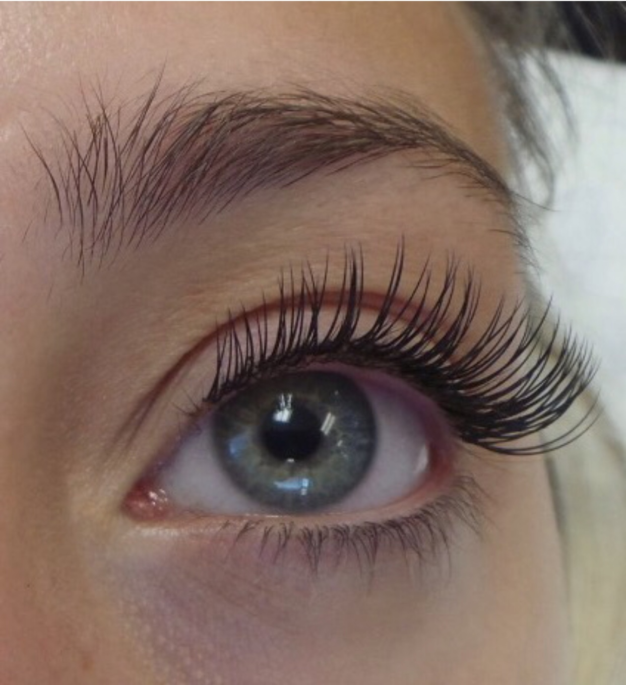 The after product of lash extensions in Raleigh, NC