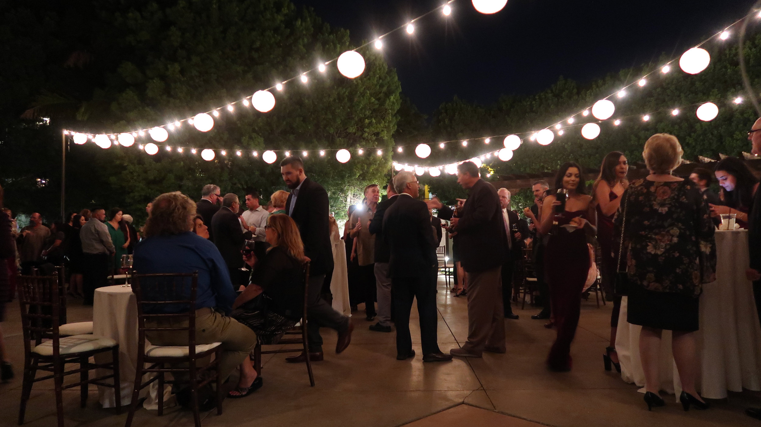 Cocktail Hour at Franciscan Gardens in San Juan Capistrano