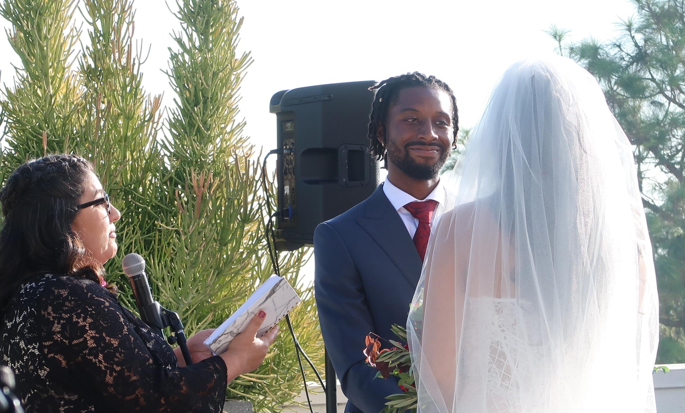 Cerritos Library Wedding Ceremony