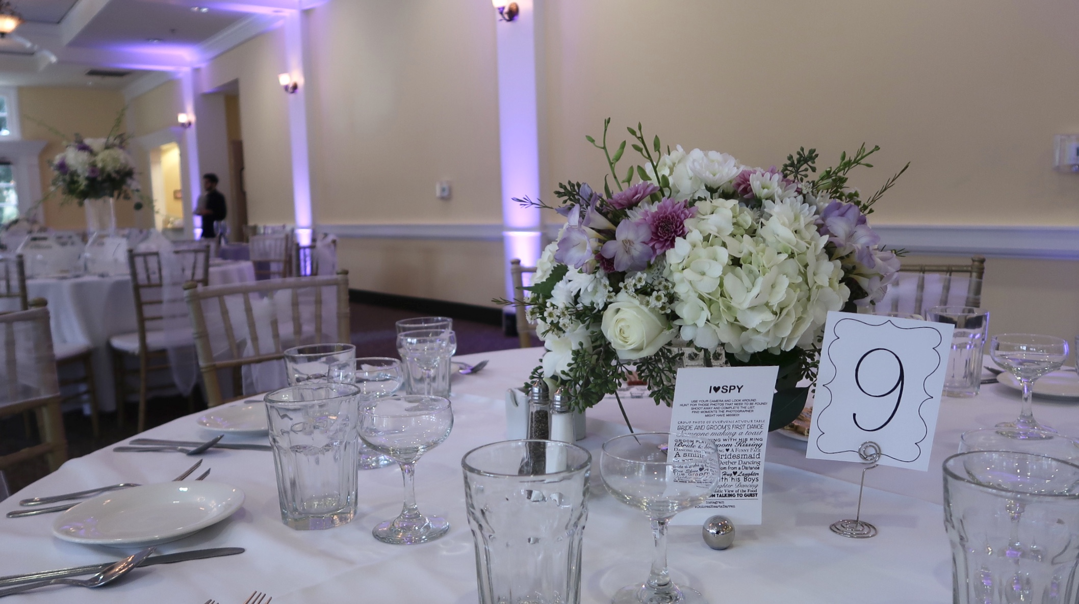 Centerpieces and up-lights
