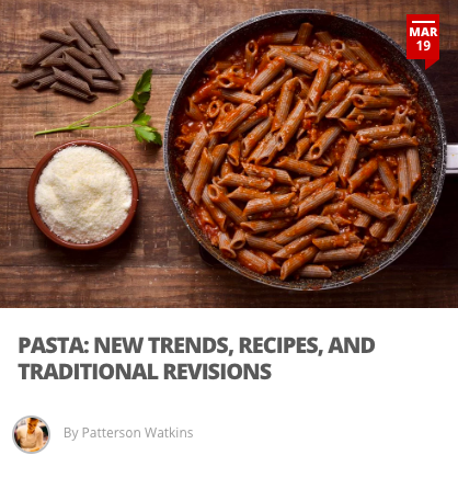 Pasta: New Trends, Recipes, and Traditional Revisions - Pasta is one of those staple items that never diminish in popularity. There are, however, spikes of Italian pasta specialties that get their moment in the spotlight. These pasta topics are trending in 2019 with variances ranging from regional flavors, underrated shapes, and alternative recipes.