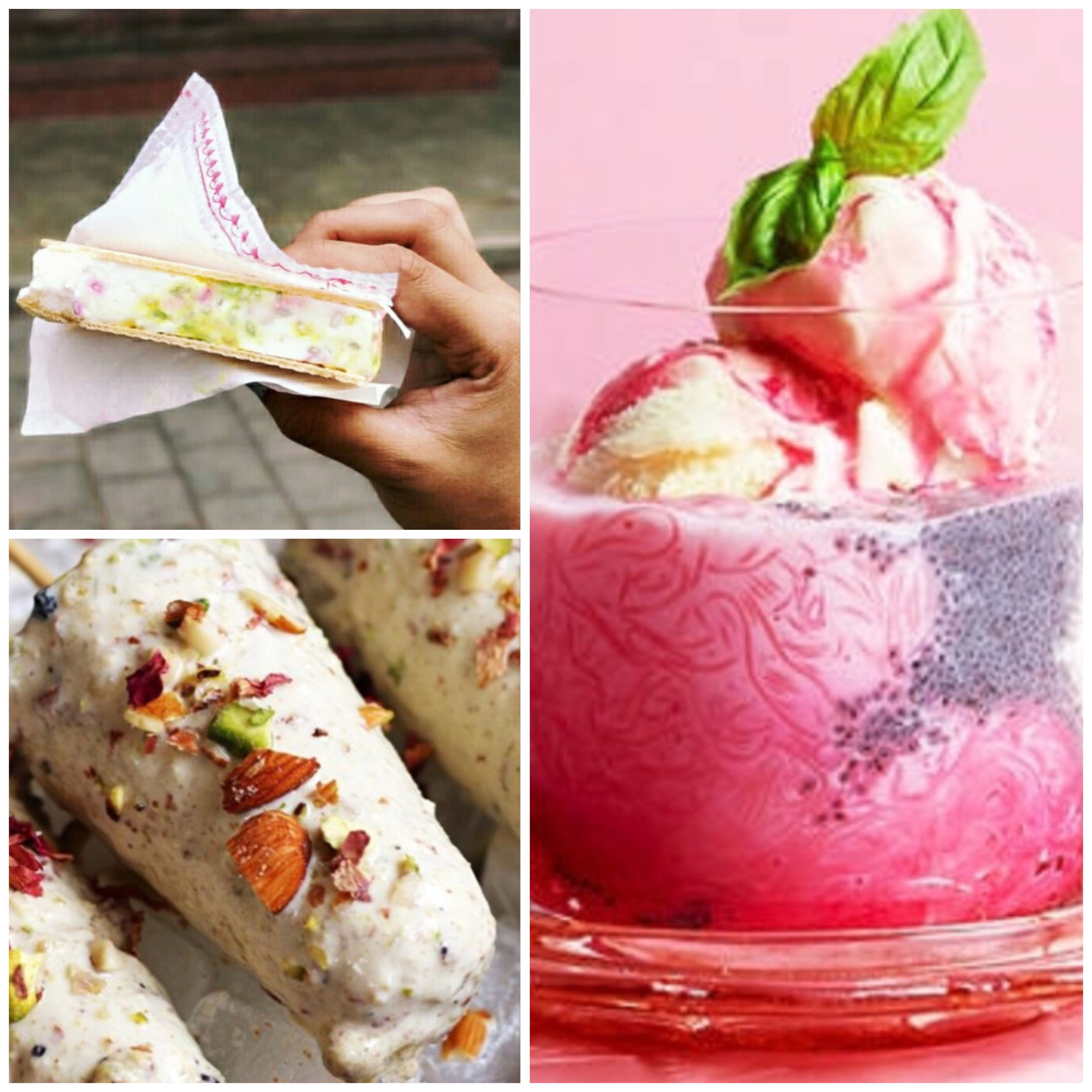 Kulfi, Falooda&Mumbai Ice Cream Sandwiches -