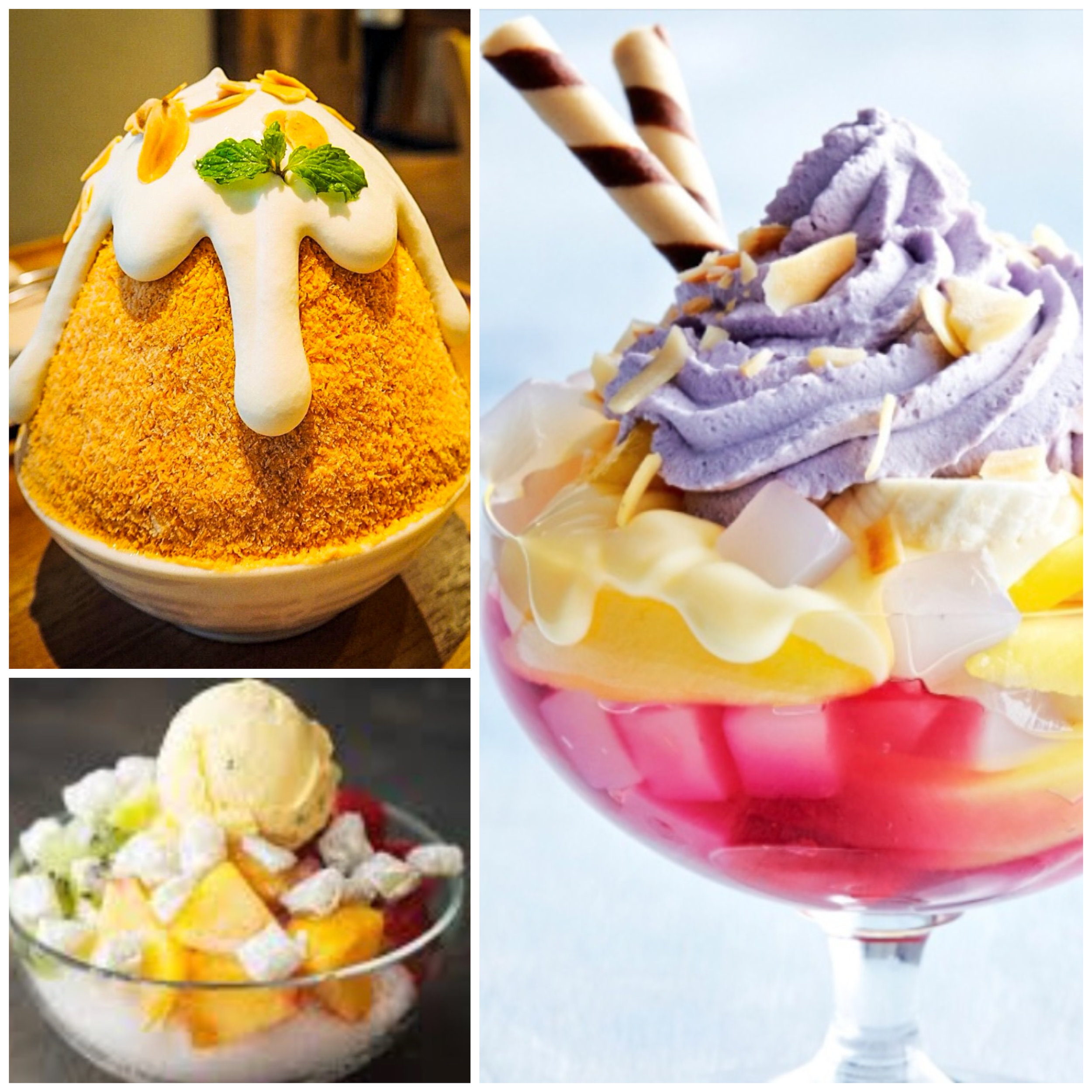 Patbingsu,Halo Halo and Baobing -