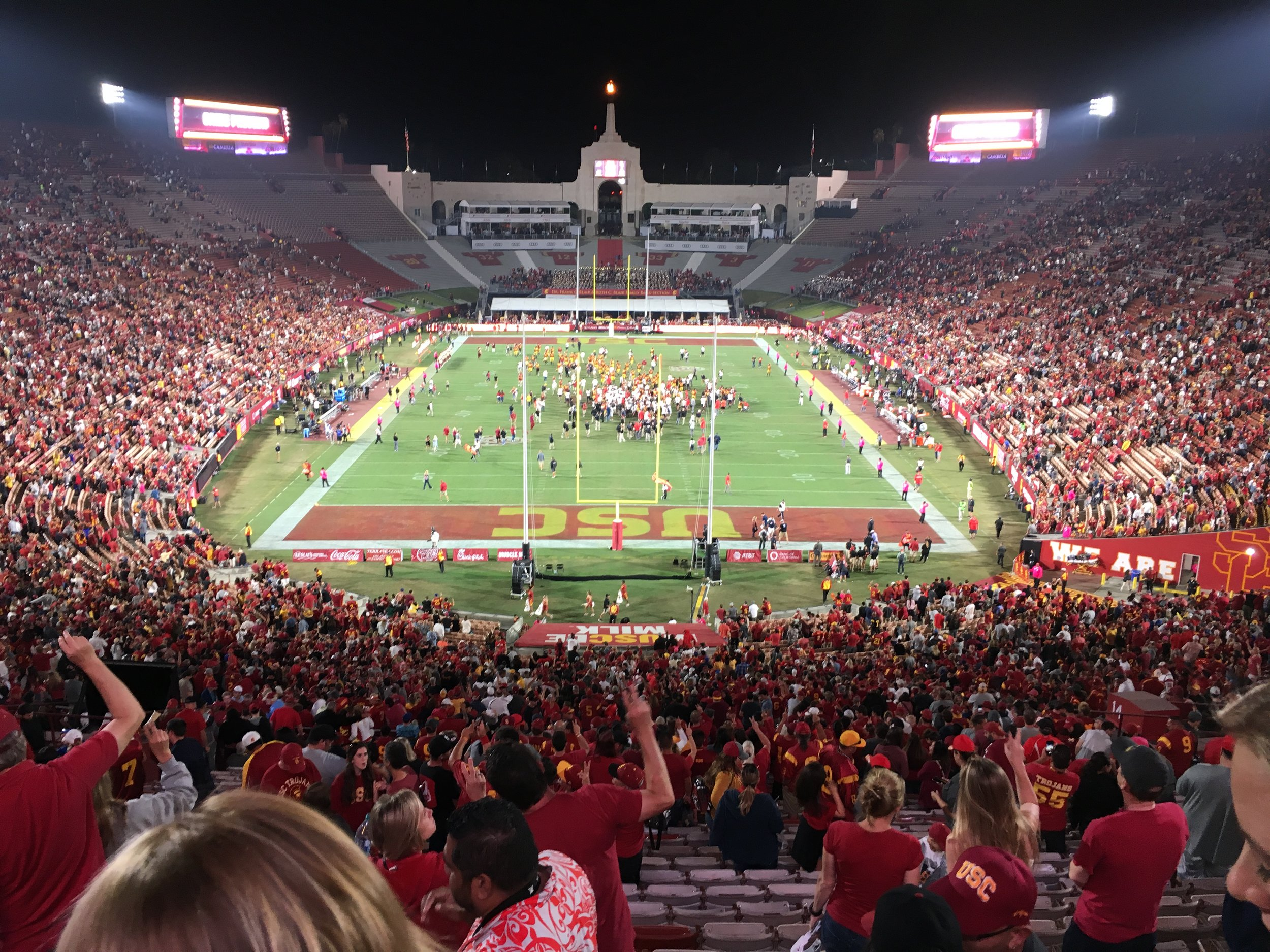 USC beat Utah in a nailbiter 29-28.