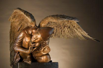 A dream-bridged bronze sculpture by Kevin Christman