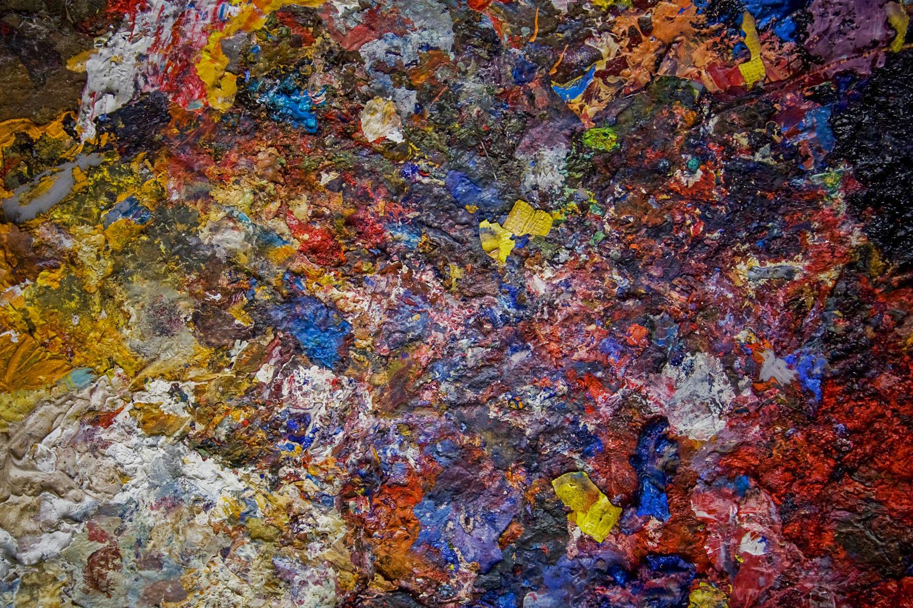 Ian Mesigwa's paint palette, 32 East Arts Trust | Kampala, Uganda