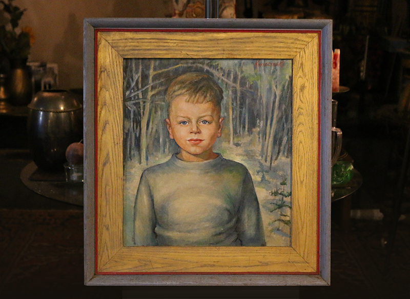 A childhood portrait of Richard painted by his mother, his first mentor.