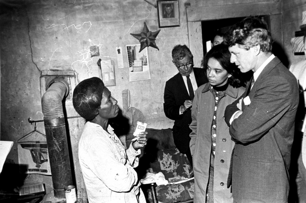 Robert Kennedy with  Marian Wright Edelman  (first to his right).
