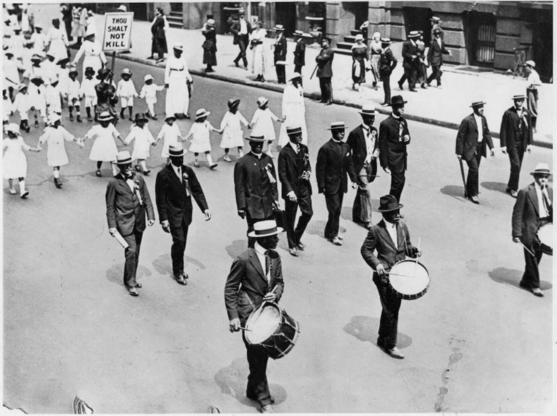 The 1917 Silent Parade in New York City was organized on the heels of the St. Louis race riots that left at least 200 people dead and about 6,000 homeless.