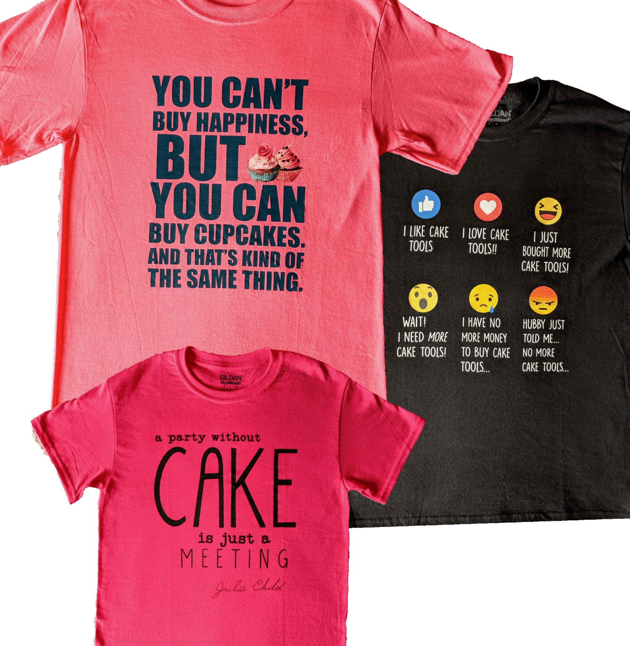 Cake Stuff t-shirts now on sale in-store. - Starting at $13.99