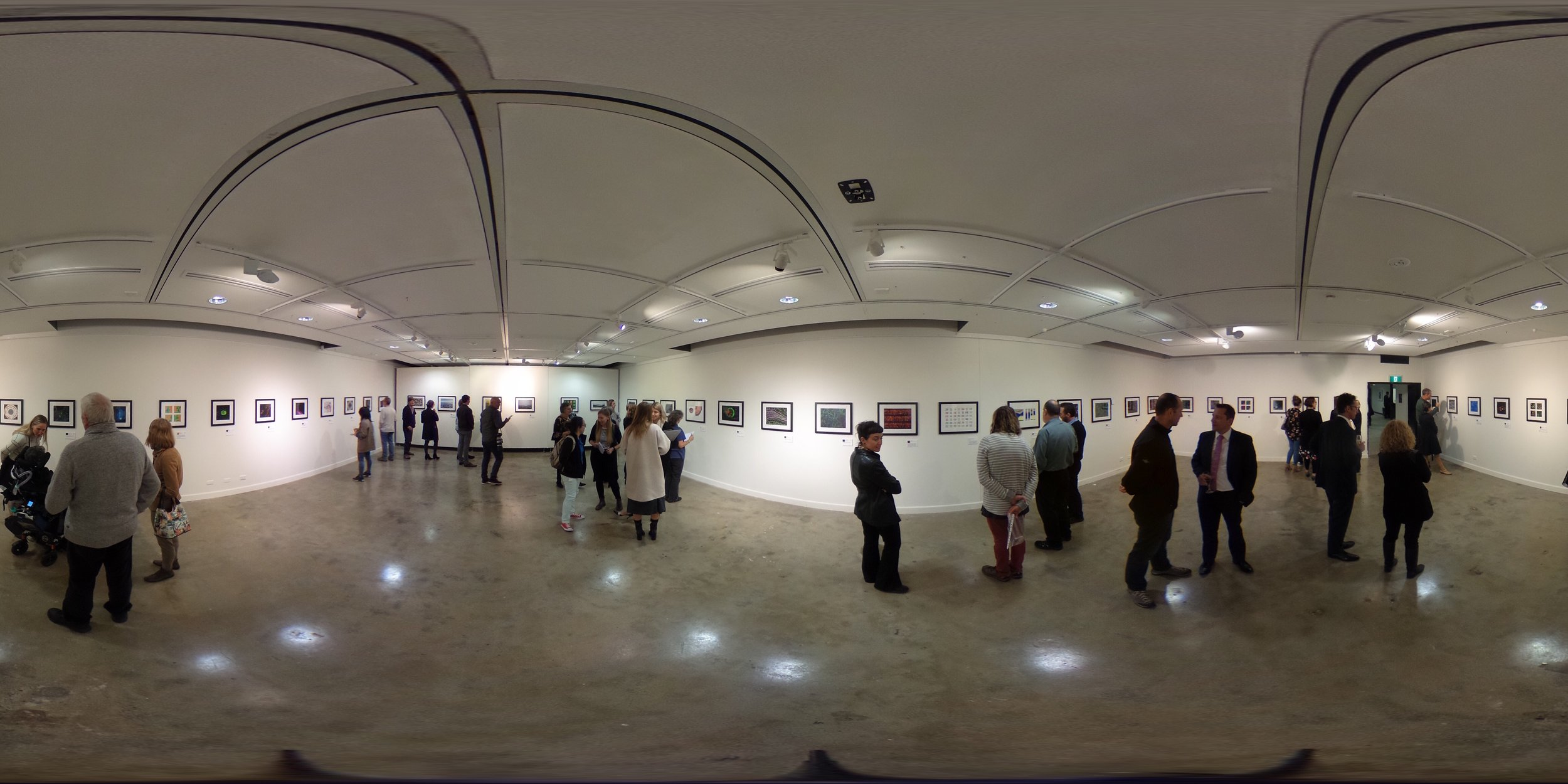 The inaugural Magnified Science Art Exhibition was held at the University of Wollongong's TAEM Gallery in July 2018 and featured artworks from neuroscientists, chemists, engineers, microbiologists, environmental and materials scientists.