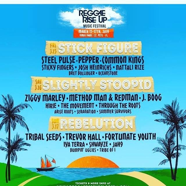 Reggae Rise Up Florida | March 15th-17th | Vinoy Park: St. Petersburg, Florida