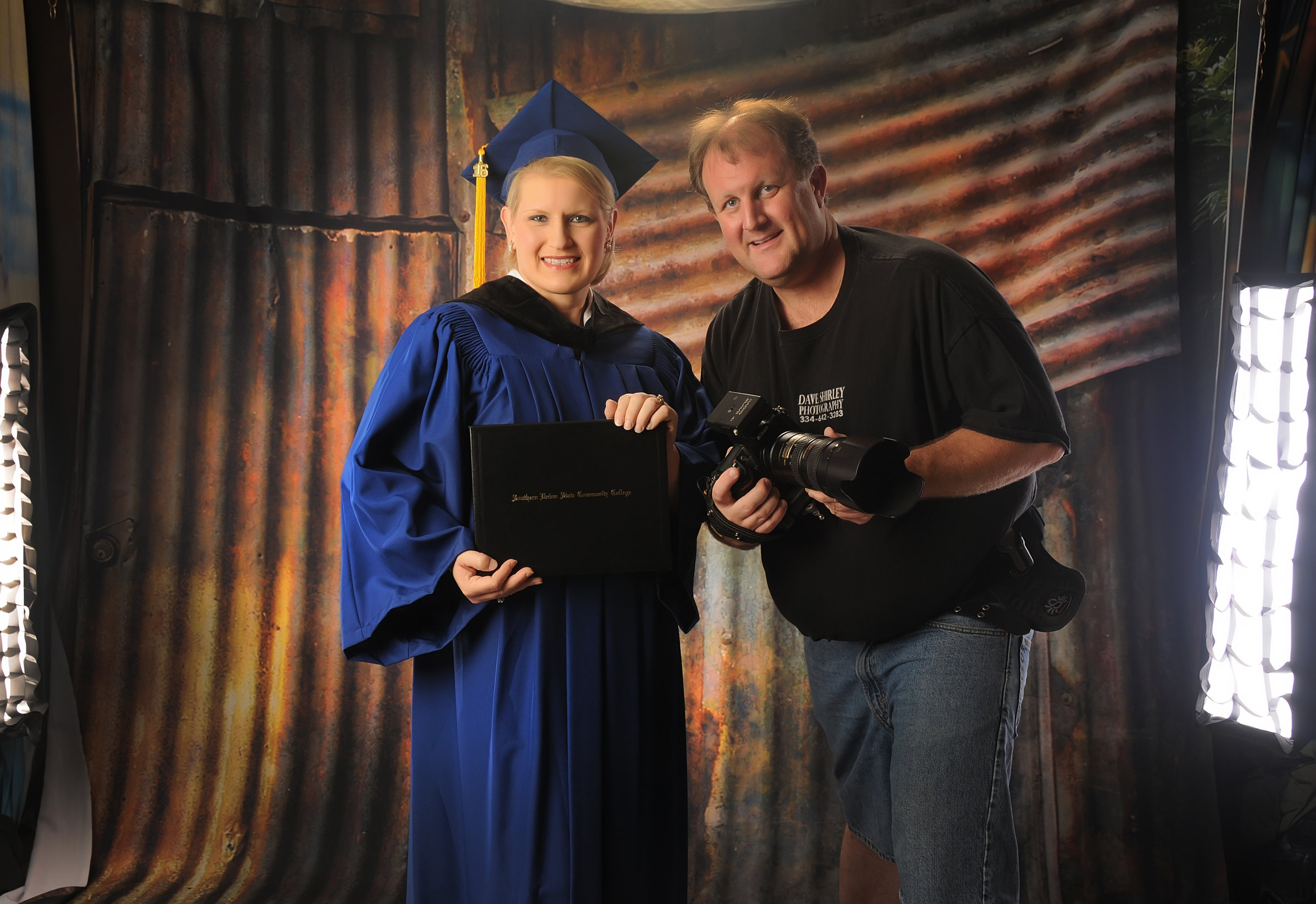 Dave and his wife Lisa Shirley day of Lisa's college graduation.... Lisa made ALL A's !!