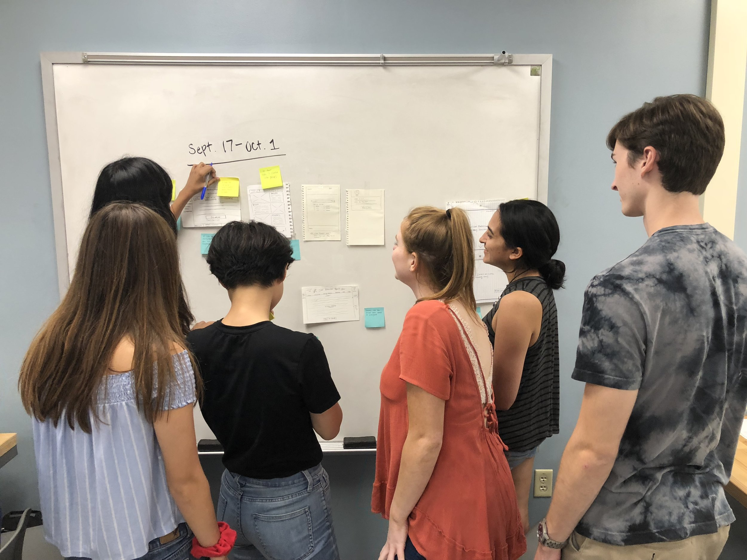 Most recently I led a team of UX students in one of my studios. My role was to guide the direction of the project as well as help my teammates grow individually as designers. Check out our project  here .