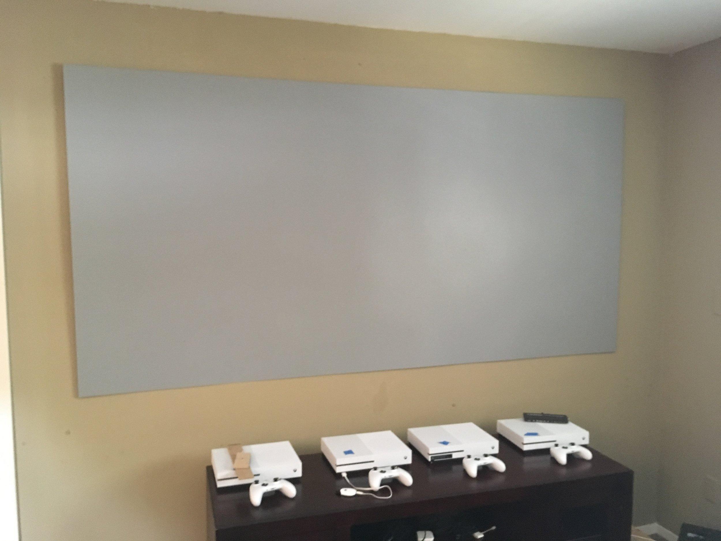 96 inch screen in flat mode