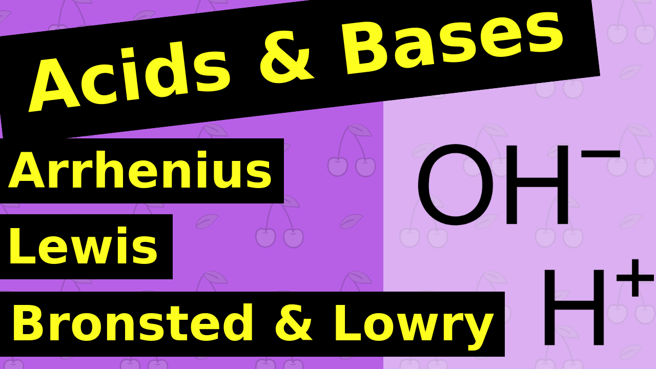Arrhenius vs Lewis vs Bronstead Lowry Acid and Base
