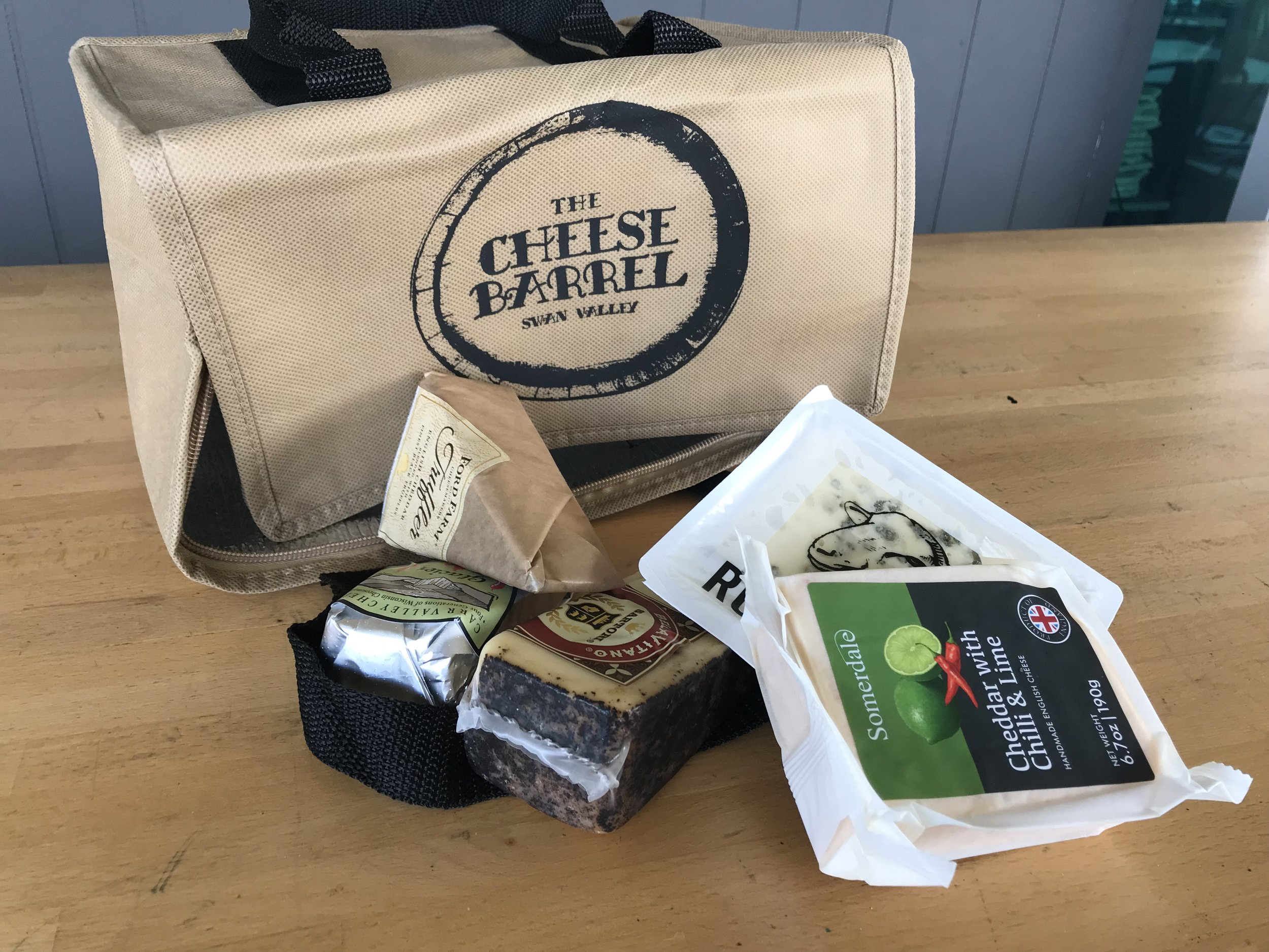 Fill your TCB cooler bag with cheesy goodies!