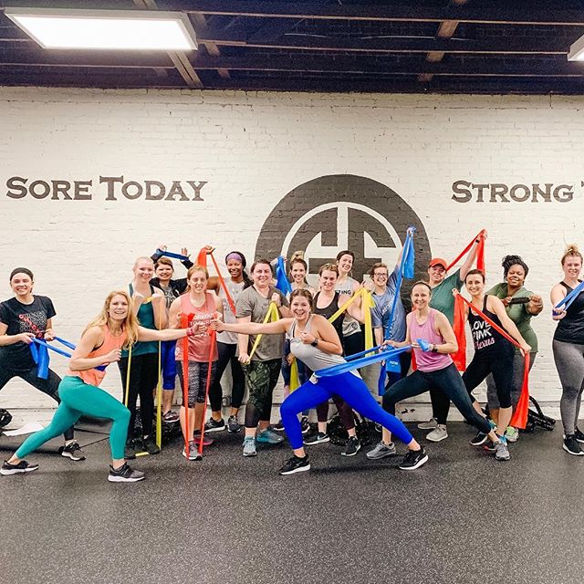 Cause you know I'm all about the BANDZ🎶 . . . Shoutout to our 5am crew for kicking off our newest class with a bang💥 #gloverfitness #fitlikeaglover #resistancebands #bandz #gloverlover #conwayfitness