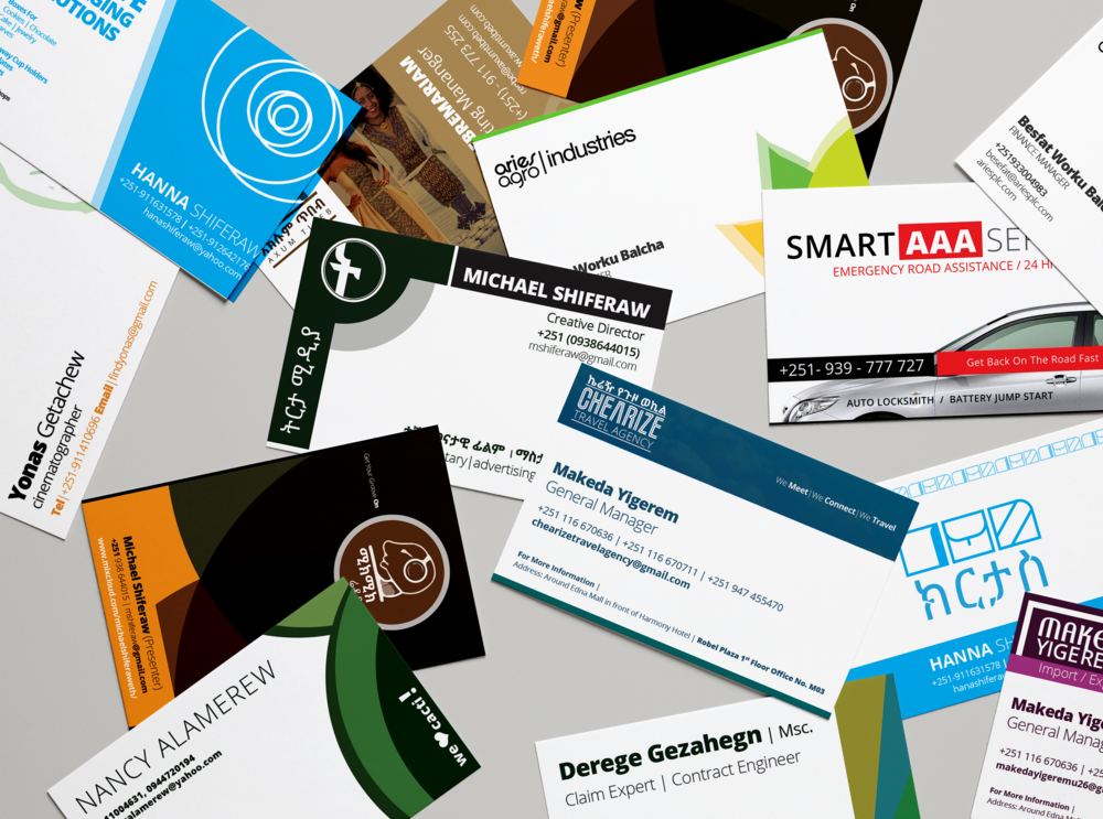 Business Card Design Mshiferaw