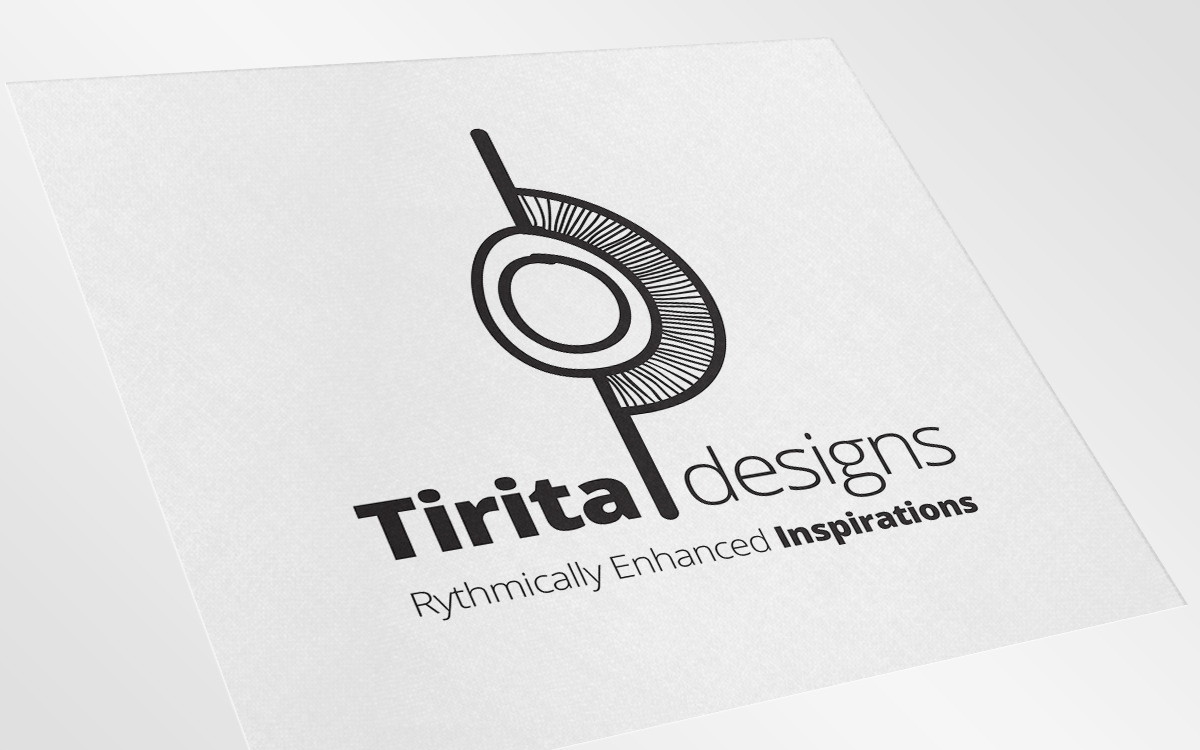 Tirita Designs Logo (*note the typo on the slogan, not everyone can get it right the first time  :)  )