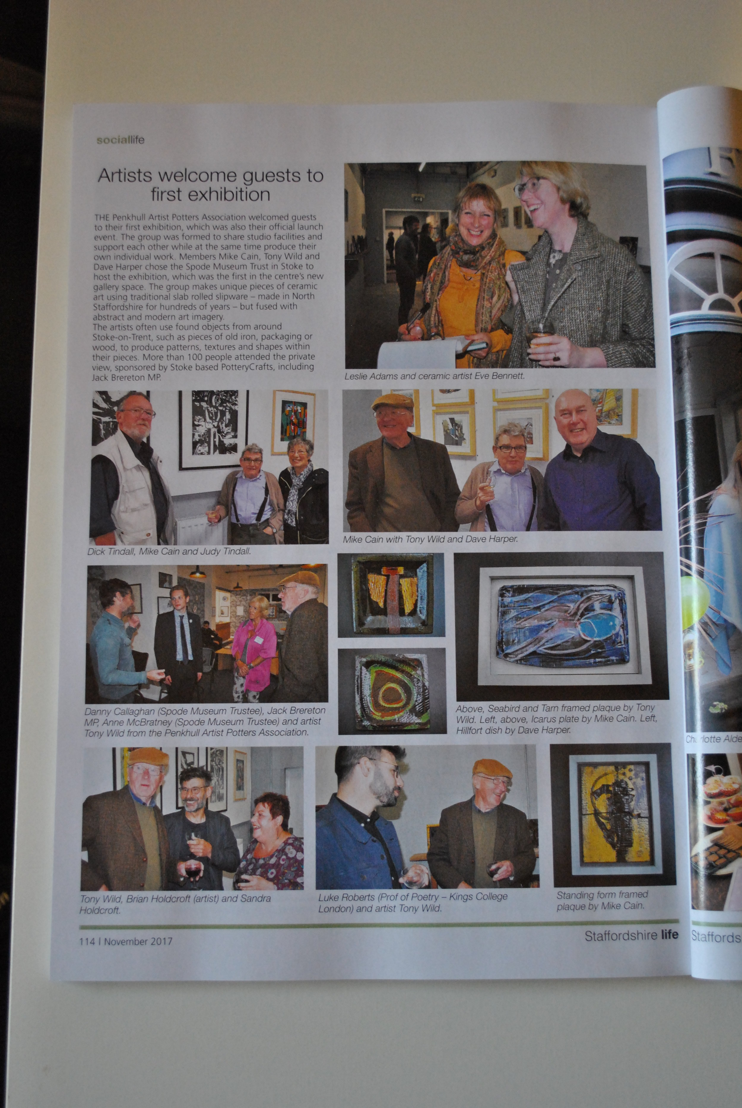The November 2017 edition of Staffordshire Life caries the story of the launch of the Penkhull Artist Potters Association.