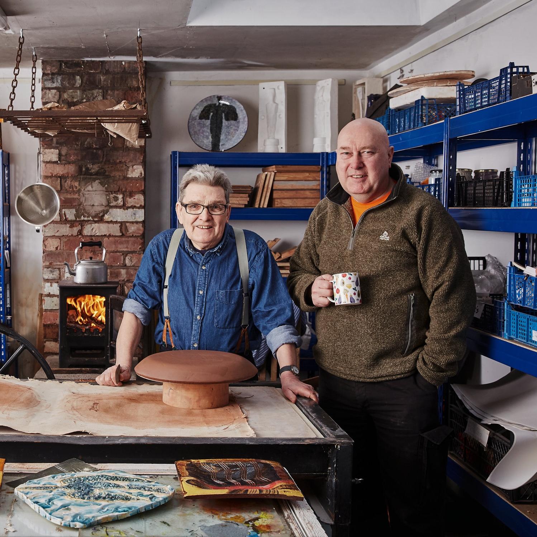 Mike Cain & Dave Harper. Photo: Alun Callender