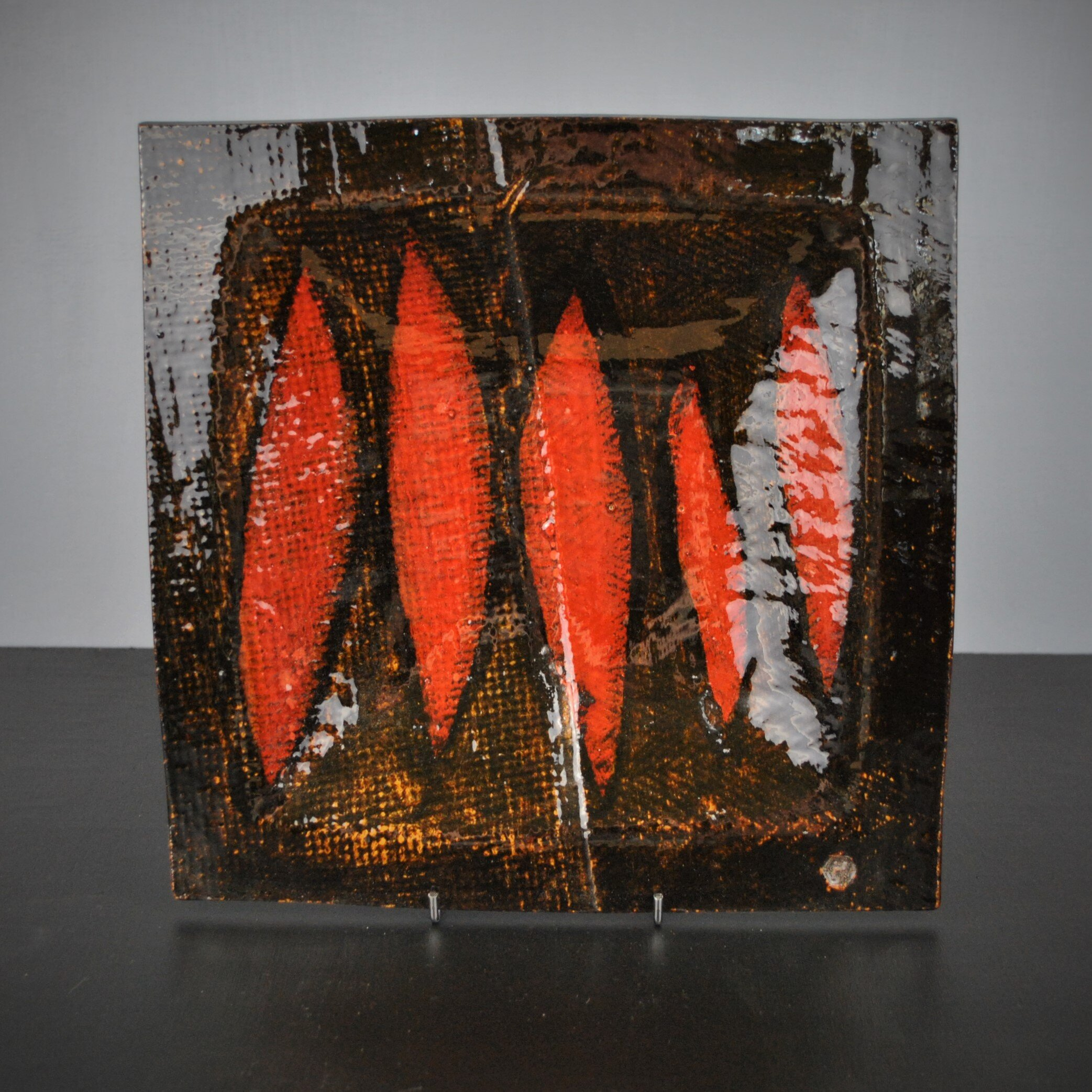 Dave Harper 2019 SHIELDS ONE. Orange & texture on stand (Square edit)  DSC_6283 (2).JPG