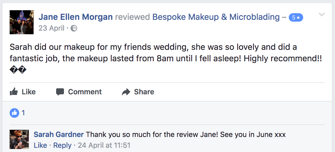 Reviews Microblading Sunderland Consultation Treatment