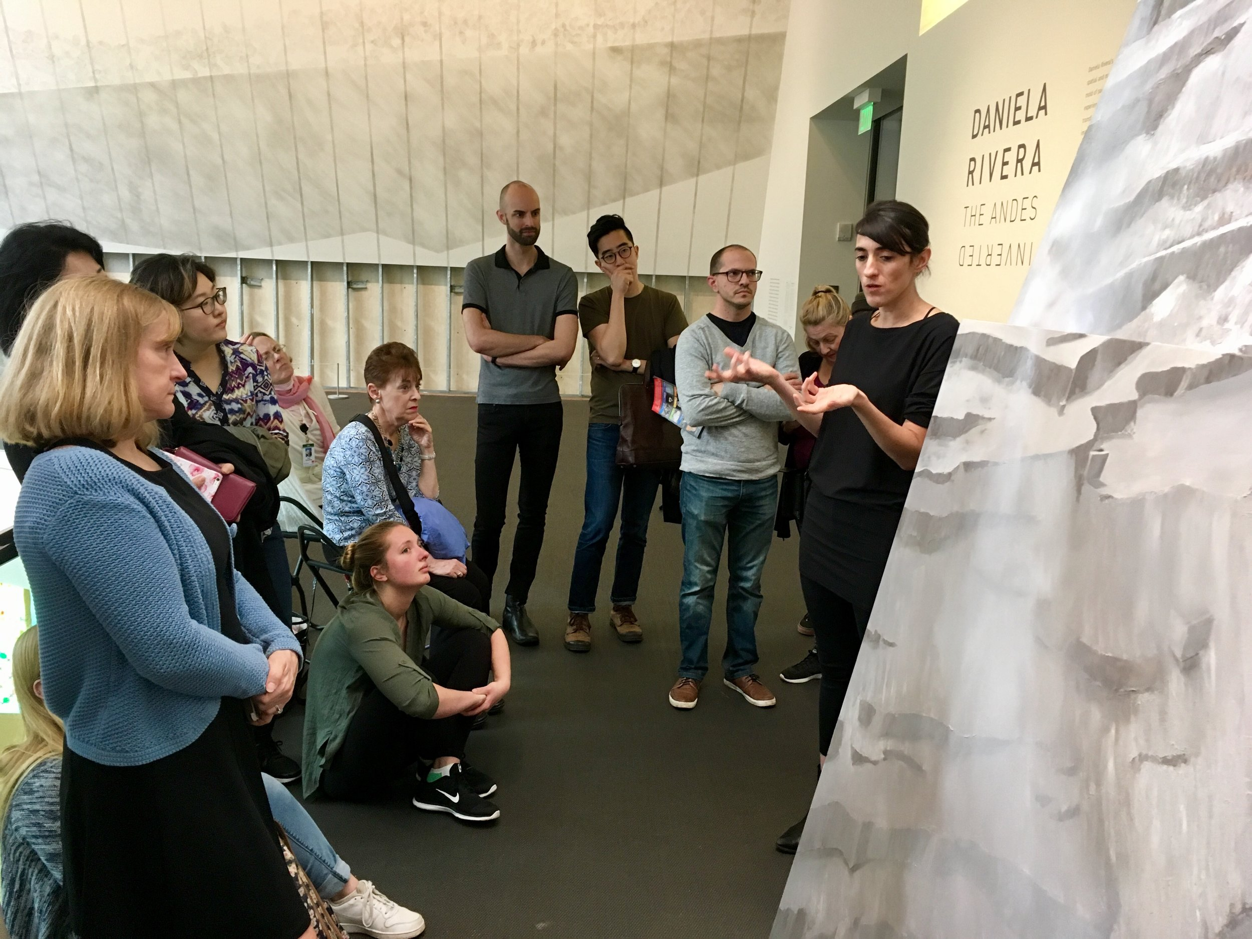 Daniela Rivera in our joint gallery talk for the public, Museum of Fine Arts, Boston 2017