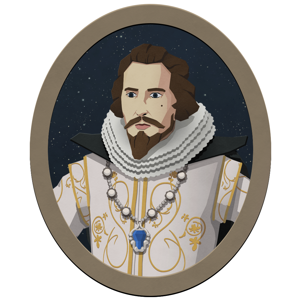 Robert Devereux - Robert Devereux is the Earl of Essex. A dashing nobleman, he cuts a fine figure about town and around the Royal Court. Now London's most popular celebrity after self-publishing exaggerated tales of his military exploits, it seems as if no one is immune to