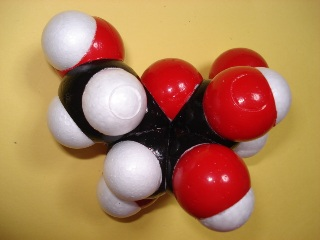 Fructose space-filling model from the Otaru Molecular Model Association