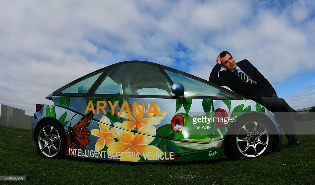 iEV 800 - iEV 800, was the 3rd prototype of the Intelligent Electric Vehicle with Robotic Exchange Battery System and Robotic Charging System design and build in Melbourne Australia 2006,