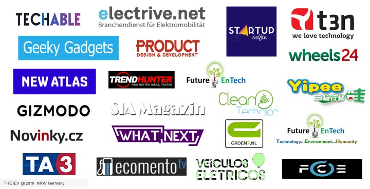 More than 100 Articles - •More the 100 Article, news about the iEV X in 2 weeks in more then 40 countries