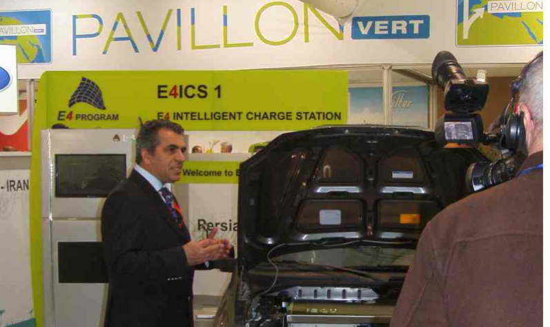 iEV1 Taxi with the First Mobile Robotic Charging System - Green Pavilion 3-13 March 2011, Geneva