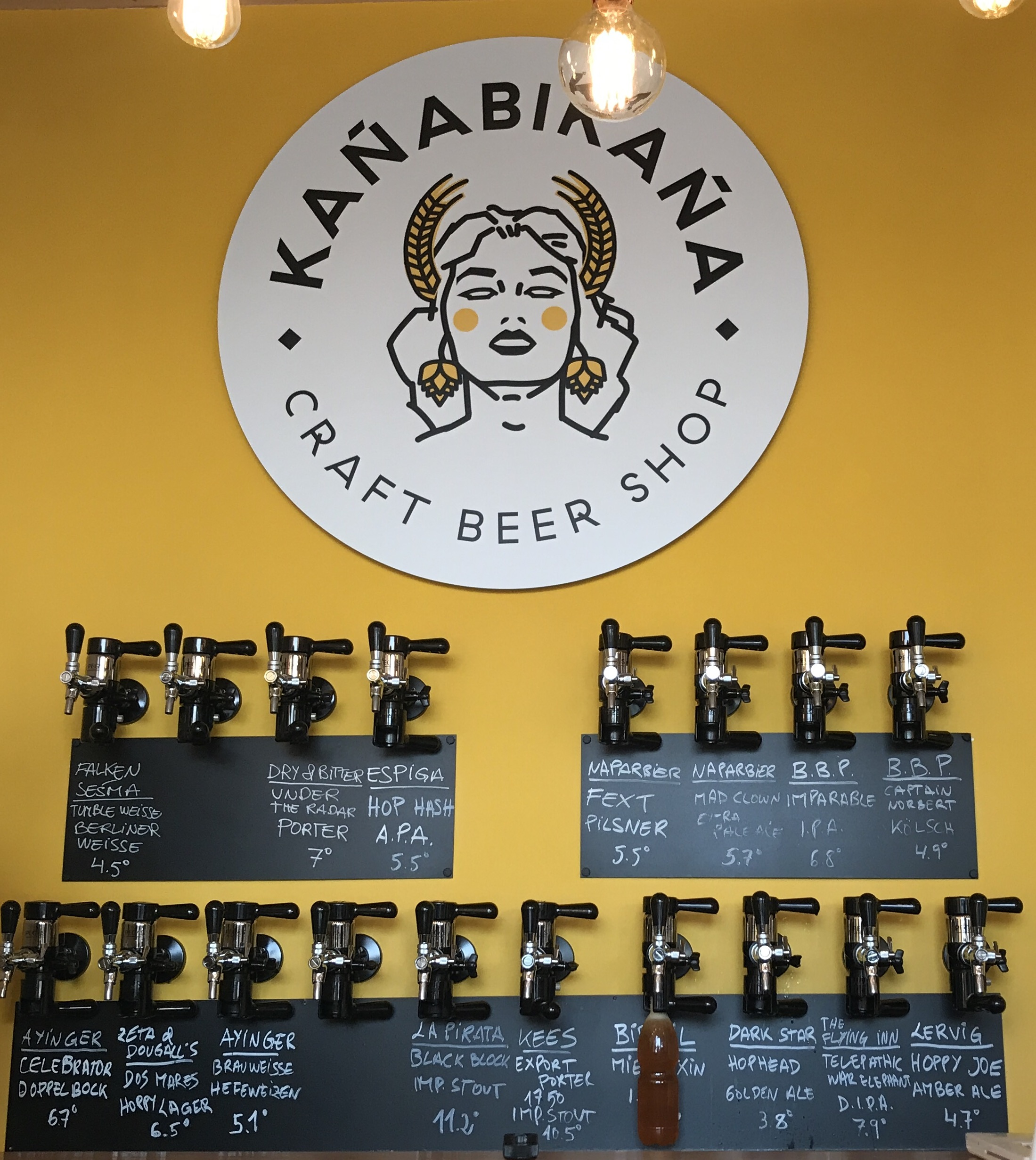 The delicious beer at    KAÑABIKAÑA